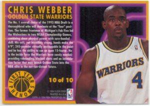 Chris Webber- 10 of 10