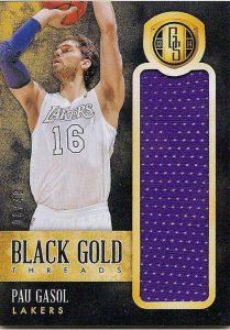 Pau Gasol - 2013-14 Gold Standard Basketball (Black Gold)
