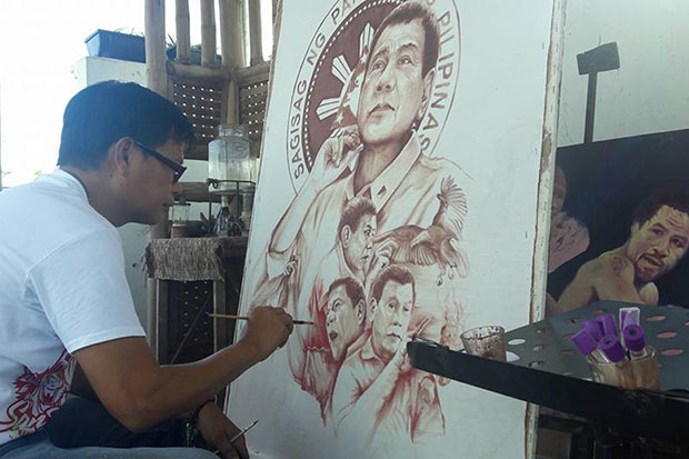 Elito Amang Pintor Circa Uses His Own Blood To Paint