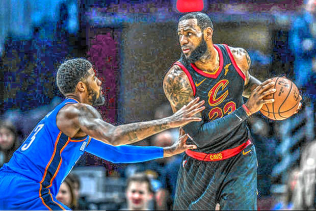 edfea862428 The new look Cleveland Cavaliers continue to roll as they beat a home team  when they visited the Oklahoma City Thunder.