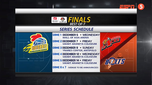 2018 PBA Governors' Cup Game Schedule - Finals Round