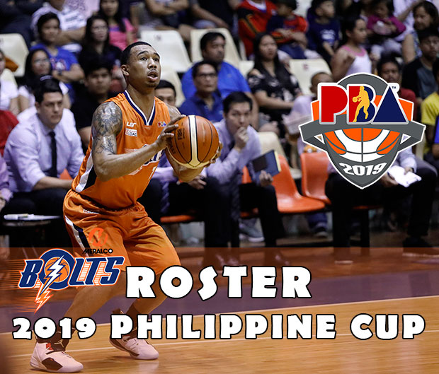 Meralco Bolts Roster | 2019 PBA Philippine Cup