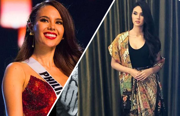 """Look: Catriona Gray Visited Indonesia And Never Missed The Chance To Wear """"Batik"""""""