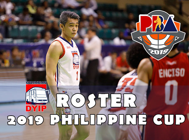Columbian Dyip Roster - 2019 PBA Philippine Cup
