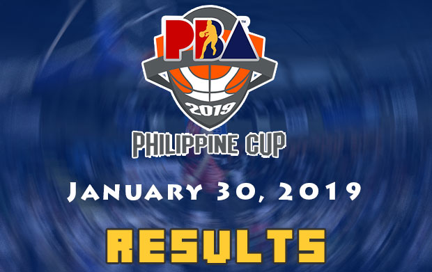 PBA Result: January 30, 2019