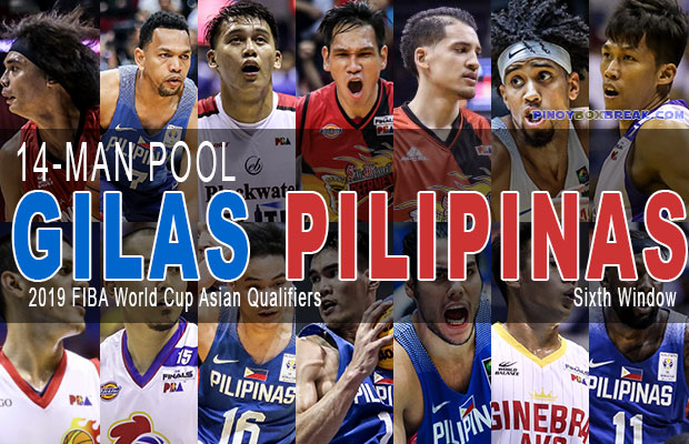 Gilas Pilipinas 14-man Pool For 2019 FIBA World Cup Asian Qualifiers - Sixth Window