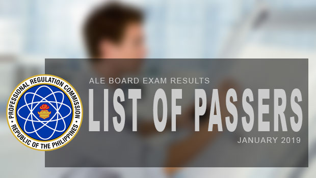PRC Exam Results (ALE): Architecture Board Exam January 2019 Result | List Of Passers