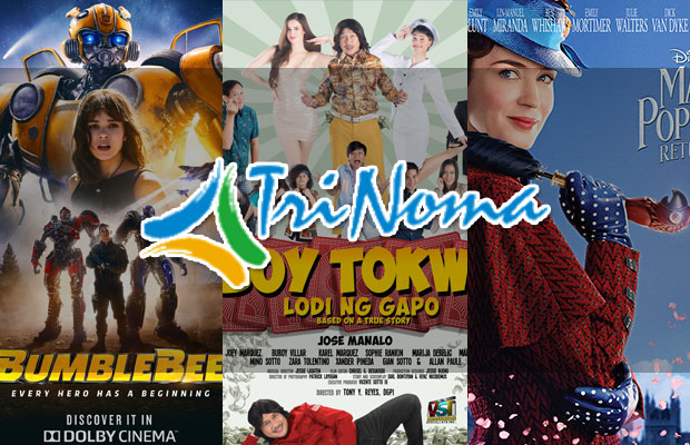 TriNoma Mall Movie Schedule And Guide | January 10 to 16, 2019