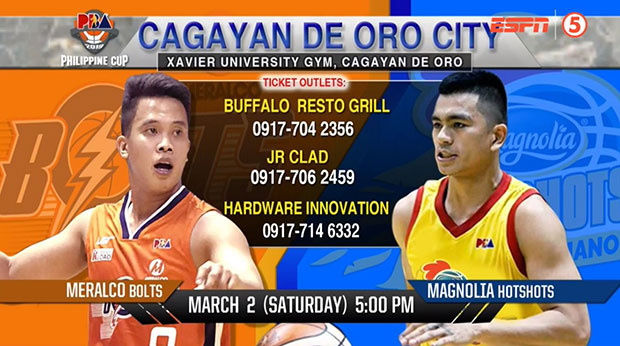 List of PBA Ticket Outlets For Magnolia Vs Meralco | Cagayan De Oro City