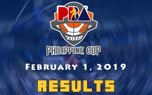 PBA Result: February 1, 2019