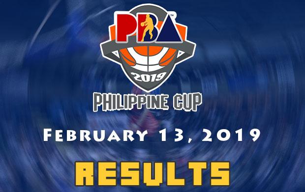 PBA Result: February 13, 2019