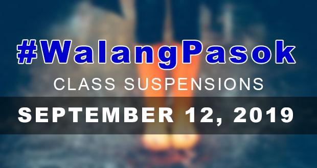 #WalangPasok | Class Suspensions On Thursday (September 12, 2019)