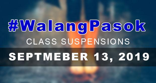 #WalangPasok | Class Suspensions On Friday (September 13, 2019)