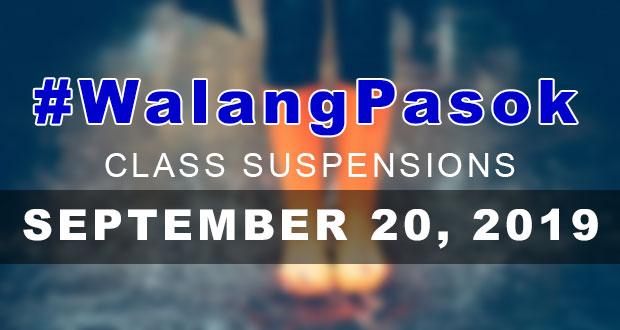 #WalangPasok | Class Suspensions On Friday (September 20, 2019)