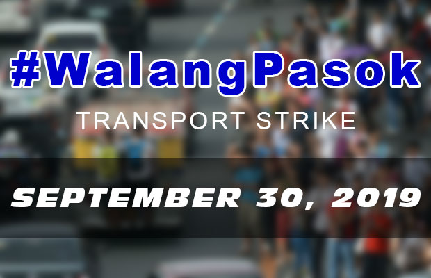 #WalangPasok | Class Suspensions On Monday (September 30, 2019) | Nationwide Transport Strike