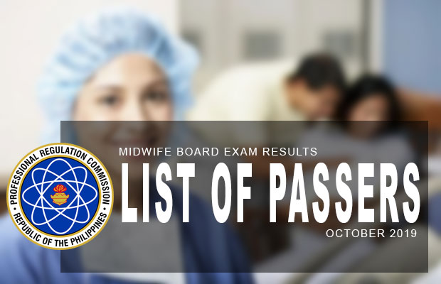 PRC Exam Results: Midwifery Board Exam November 2019 Result | List Of Passers
