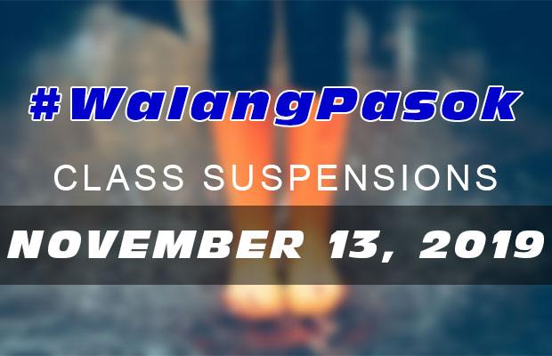 #WalangPasok | Class Suspensions On Wednesday (November 13, 2019)