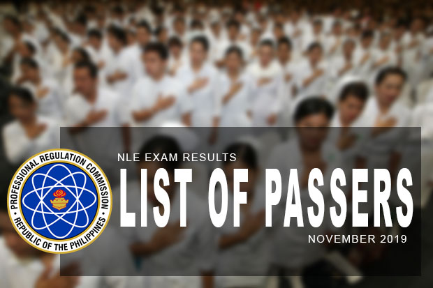 PRC Exam Results: NLE Nursing Board Exam November 2019 Result | List Of Passers