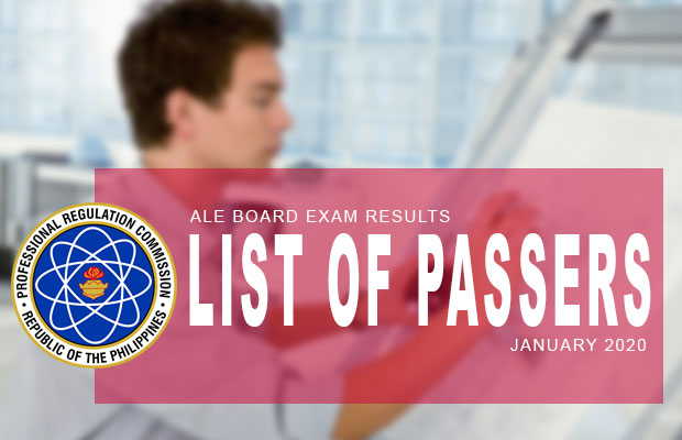 PRC Exam Results: ALE Architect Board Exam January 2020 Result | List Of Passers