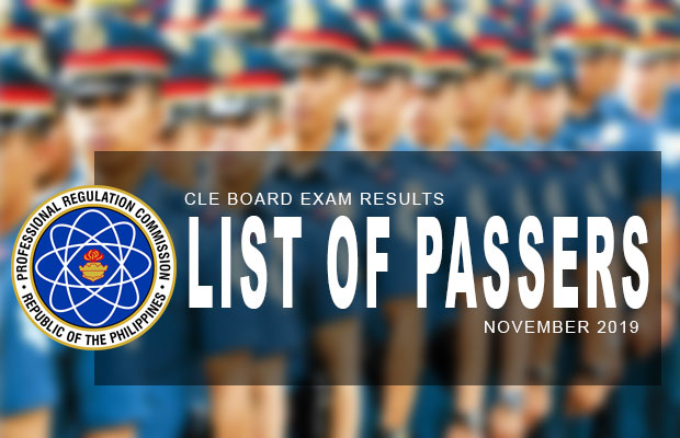 PRC Exam Results: CLE Criminologist Board Exam November 2019 Result | List Of Passers