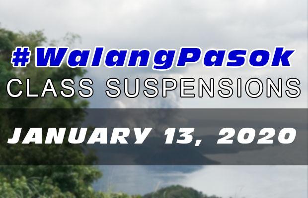 #WalangPasok   Class Suspensions On Monday (January 12, 2020)