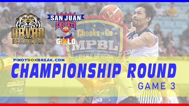 San Juan vs Davao Occ. Game 3 Lakan Cup Finals   March 20, 2021   MPBL Live Streaming - Lakan Cup